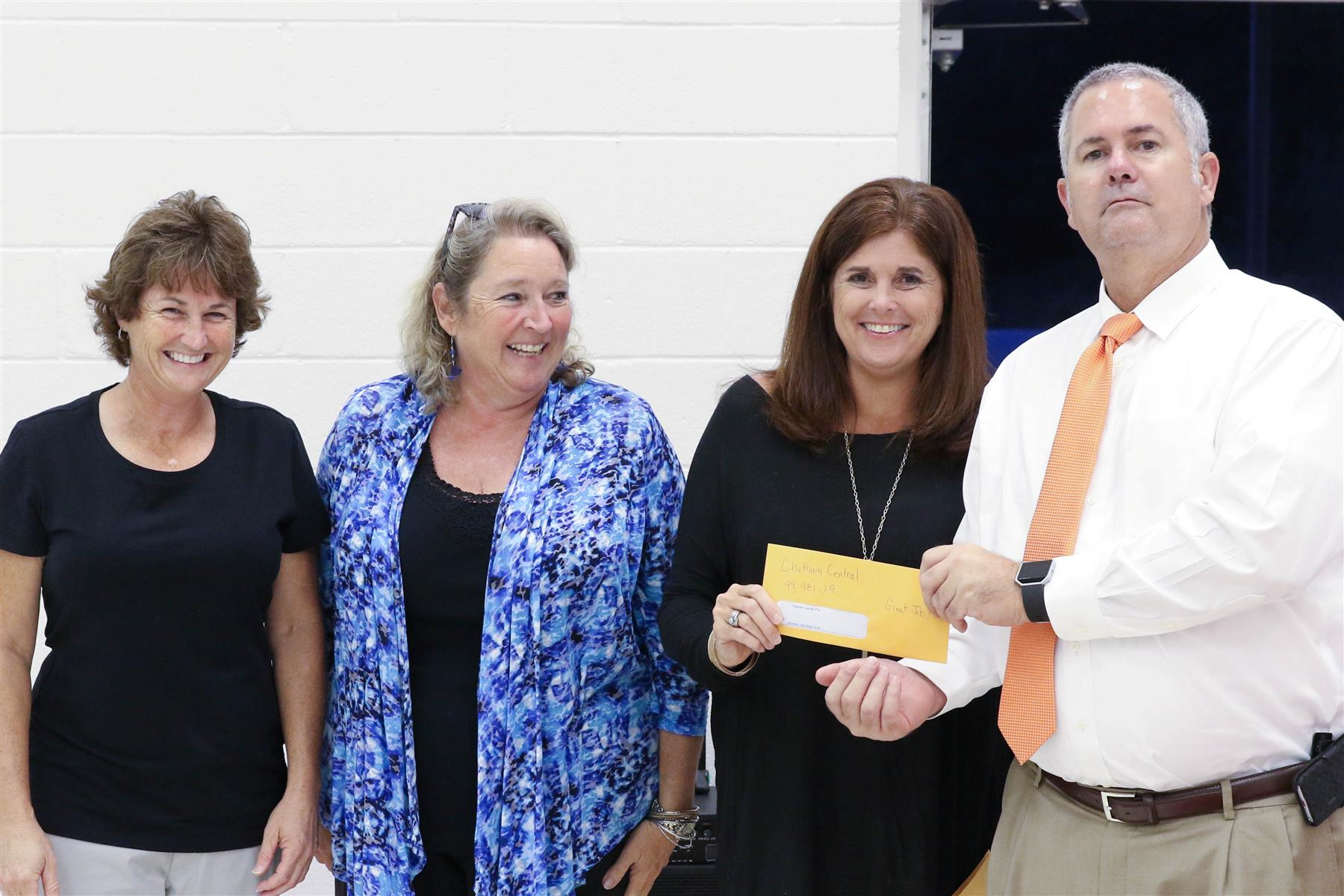 CCHS Receives PTA Thrift Store Check