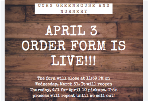 Greenhouse order form