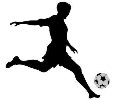 soccer silhouette graphic