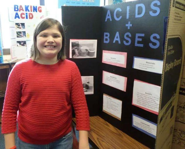 student with her Science Fair project