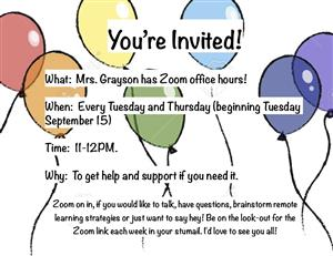Grayson Office Hours