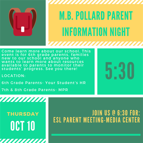 Parent Info Night Flyer