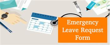 State of Emergency Leave Request Application