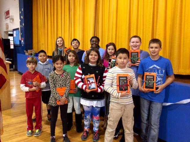 Reading winners of Kindle Fires