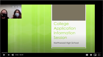 College Application Information Session Video Presentation