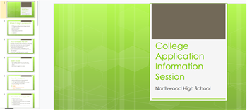 College Application Information Session Slides