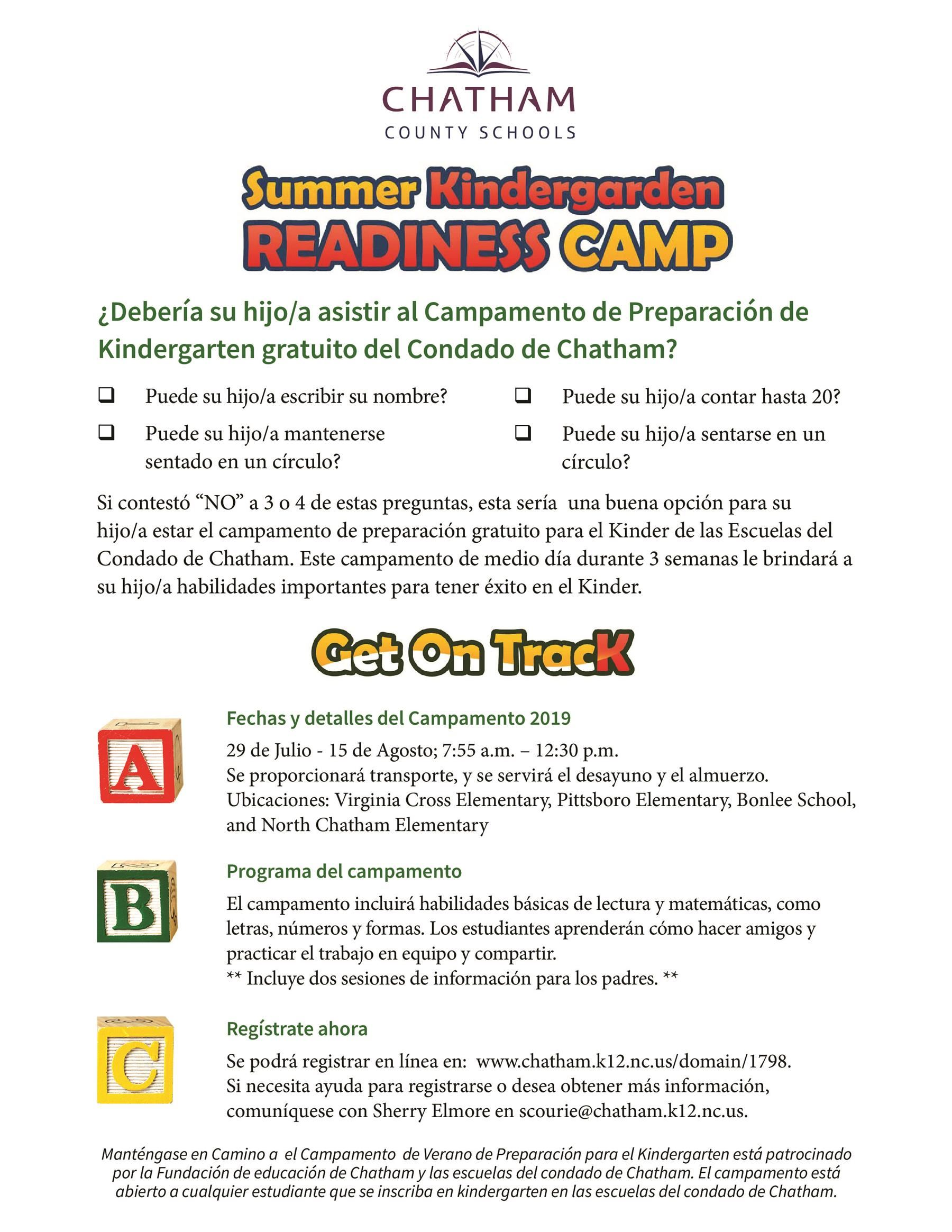 Summer Learning Opportunities / Kindergarten Readiness Camp