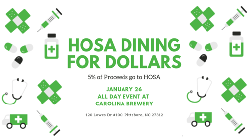 HOSA Dining for $$
