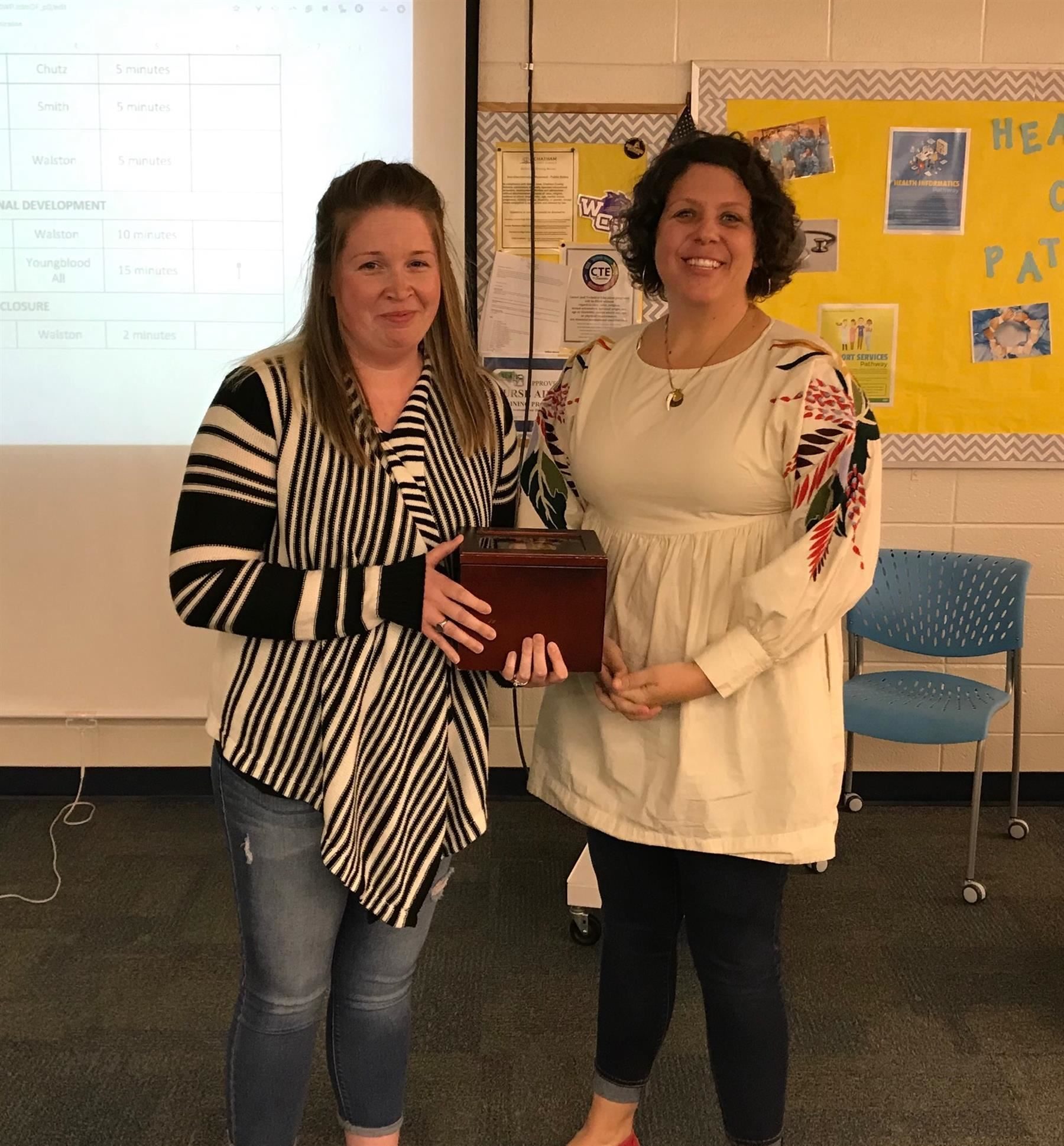 Nov and Dec teachers of the month