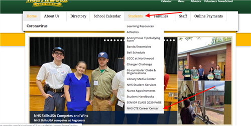 new CTE career page