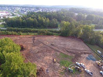 This is an aerial view of the future home of Chatham Grove Elementary School.