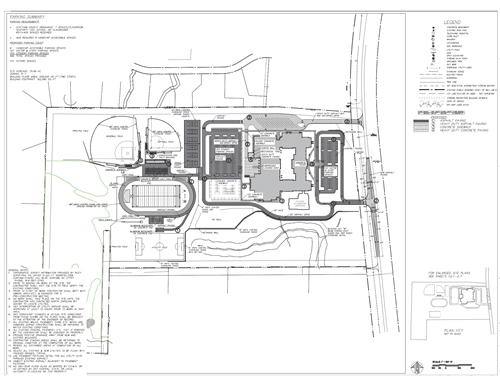This is the site plan for Seaforth High School.