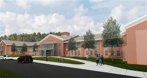 This is s rendering of Seaforth High School.
