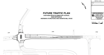 Future traffic plan for Andrews Store Road established