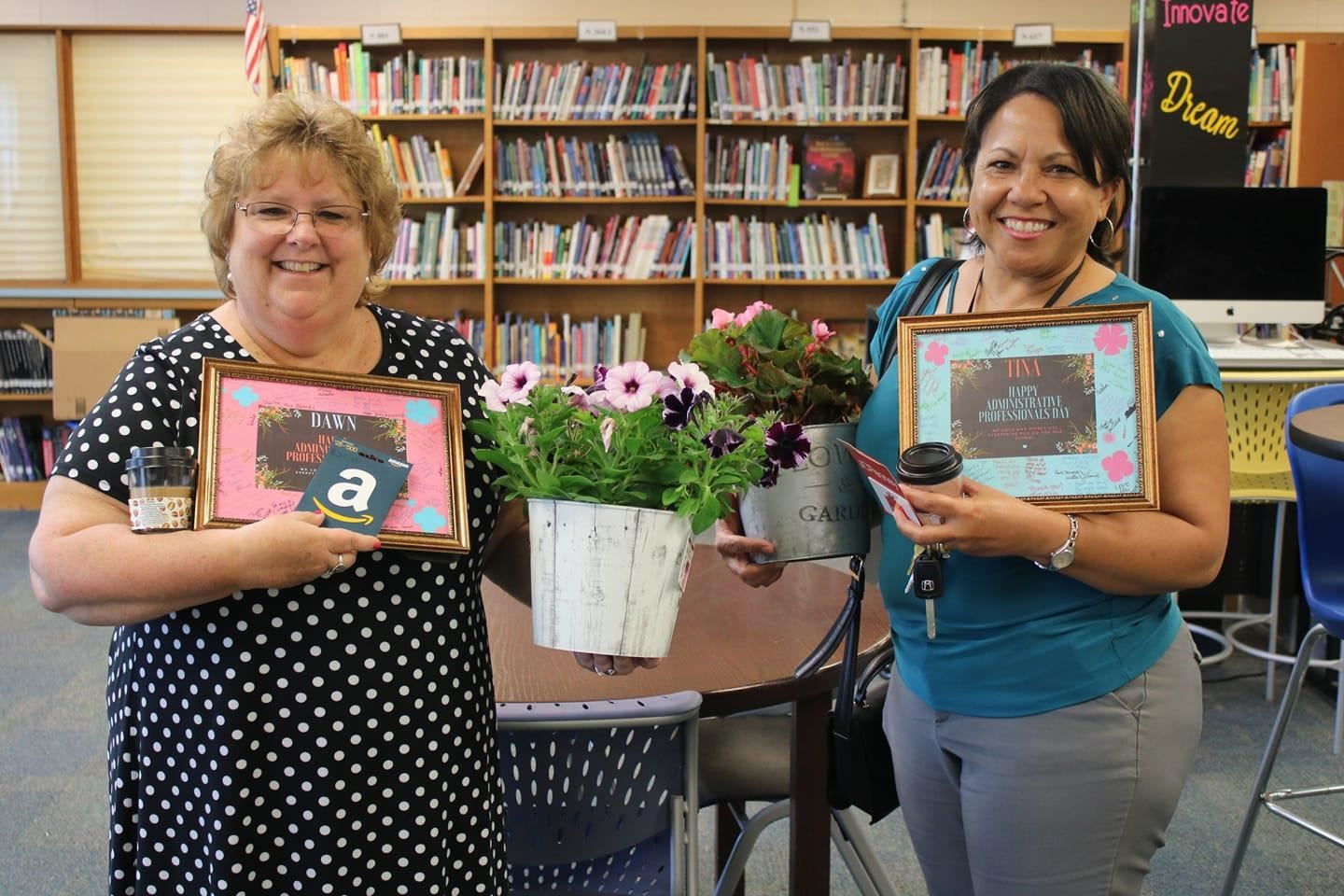 Mrs. Williams and Mrs. Martin are appreciated for all of their hard work here at CCI!