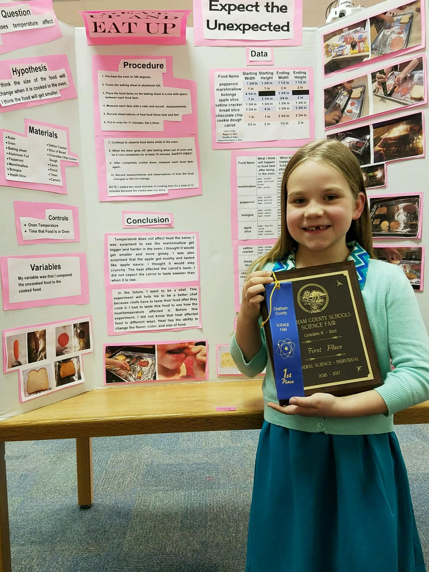 Silk Hope Students Recognized at District Science Fair