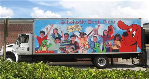 Scholastic Book Fair delivery truck; photo by Doug Scaletta