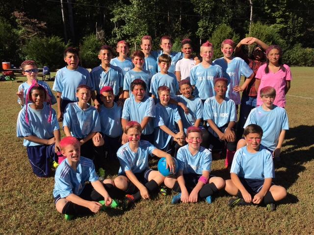 Silk Hope Soccer Team Sporting Pink