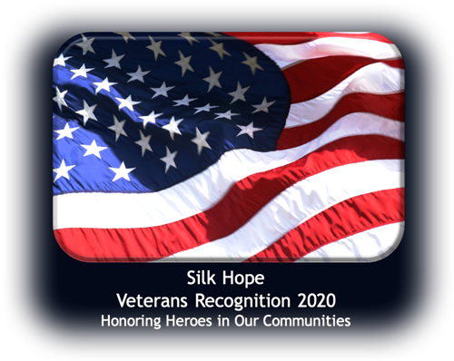 "flag image with text ""Silk Hope Veterans Recognition 2020"""