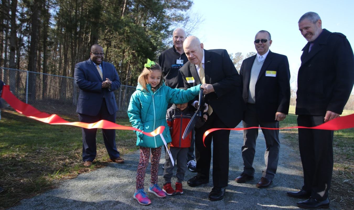 Ribbon cutting at Bulldog Boulevard March 27, 2019