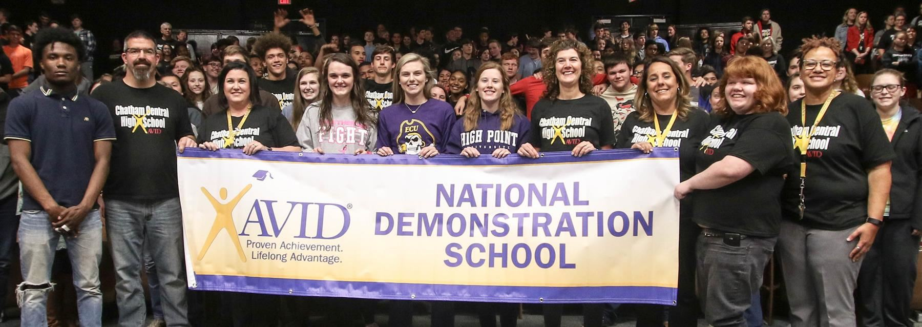 Chatham Central High School became a national demonstration school for AVID on March 28, 2019.