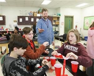 Students say Horton Middle School teacher Michael McMillan puts science concepts within their grasp.