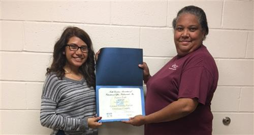 Jordan-Matthews High School graduate Liliana Estrada Pavón and Chatham County Association of Educa