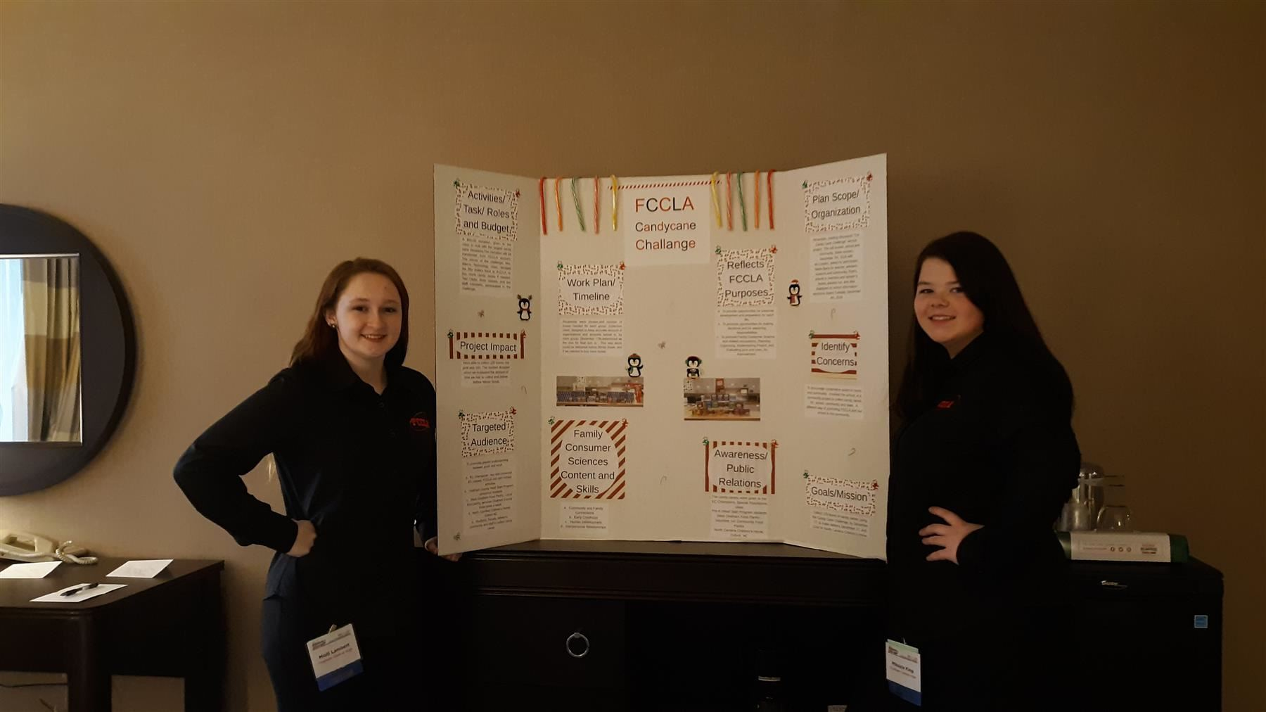 Molli Lambert (left) and Mikayla King earned bronze medals during state-level FCCLA competition in early April in Greensboro.