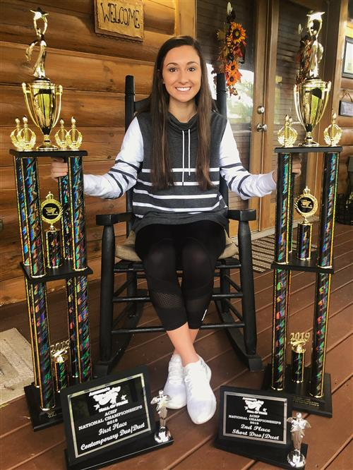 Chatham Central High School's Macy Henson turned in strong performances at the America's Clogging Hall of Fame championships.