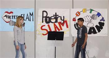 Spoken-word artists brought issues to the table during a May poetry slam at Chatham Middle School.