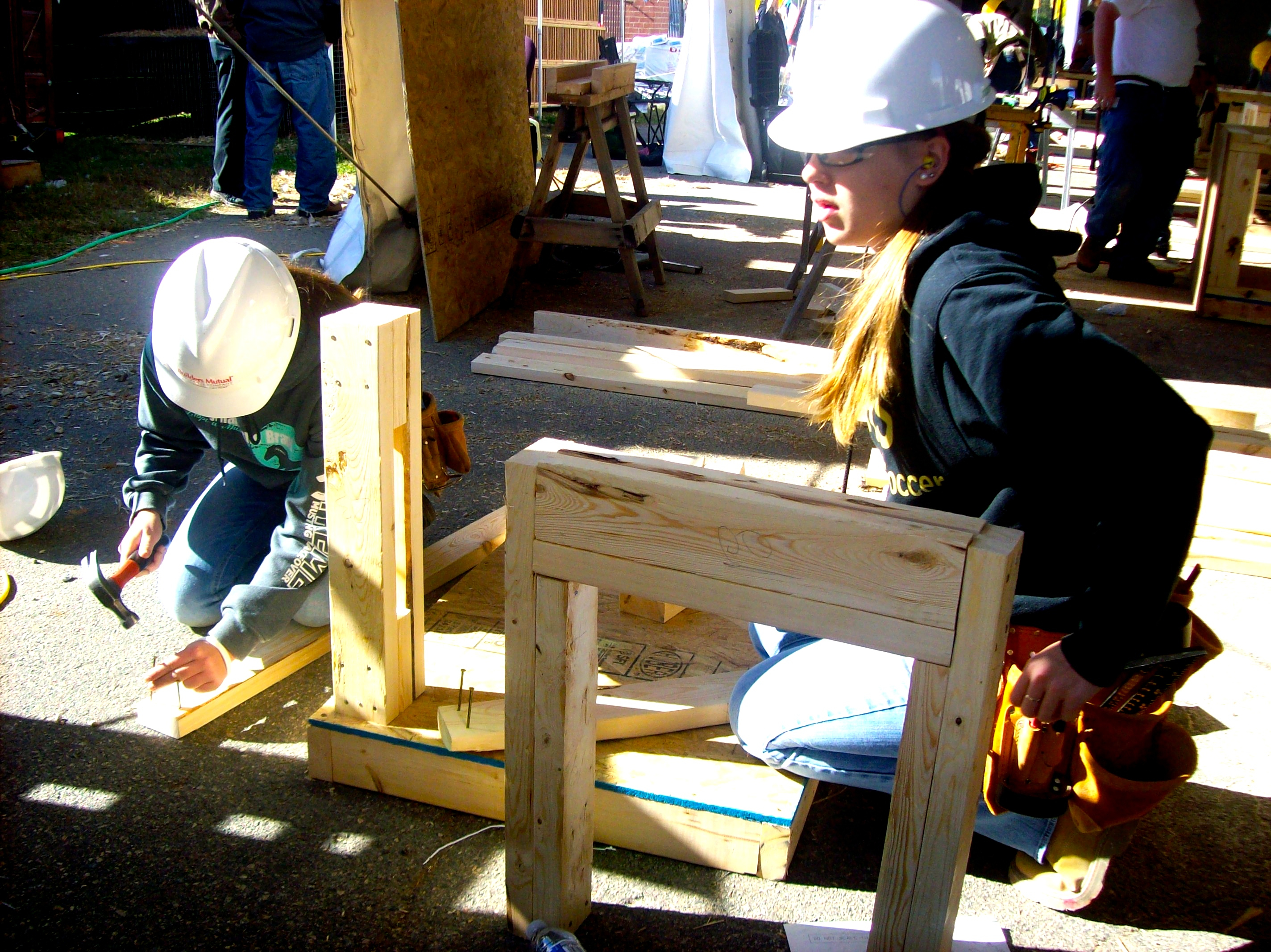 CTE students in carpentry competition photo
