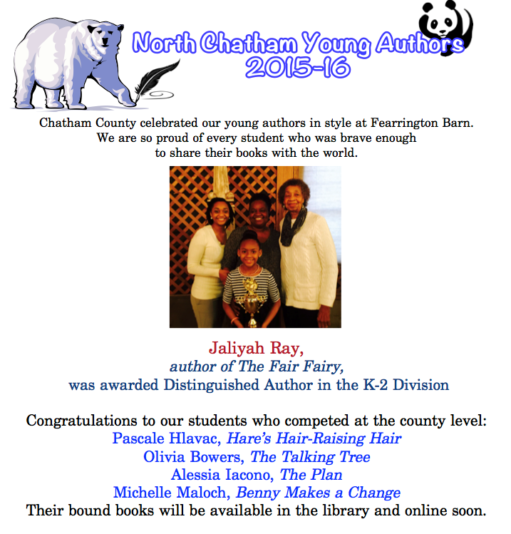 Chatham County Young Authors