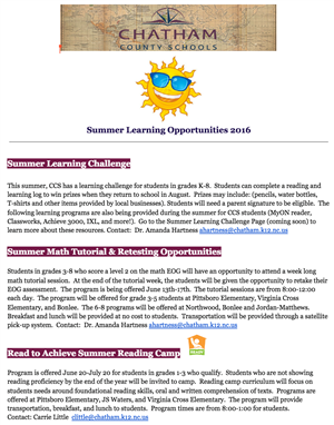 Summer Learning Opportunities thumbnail