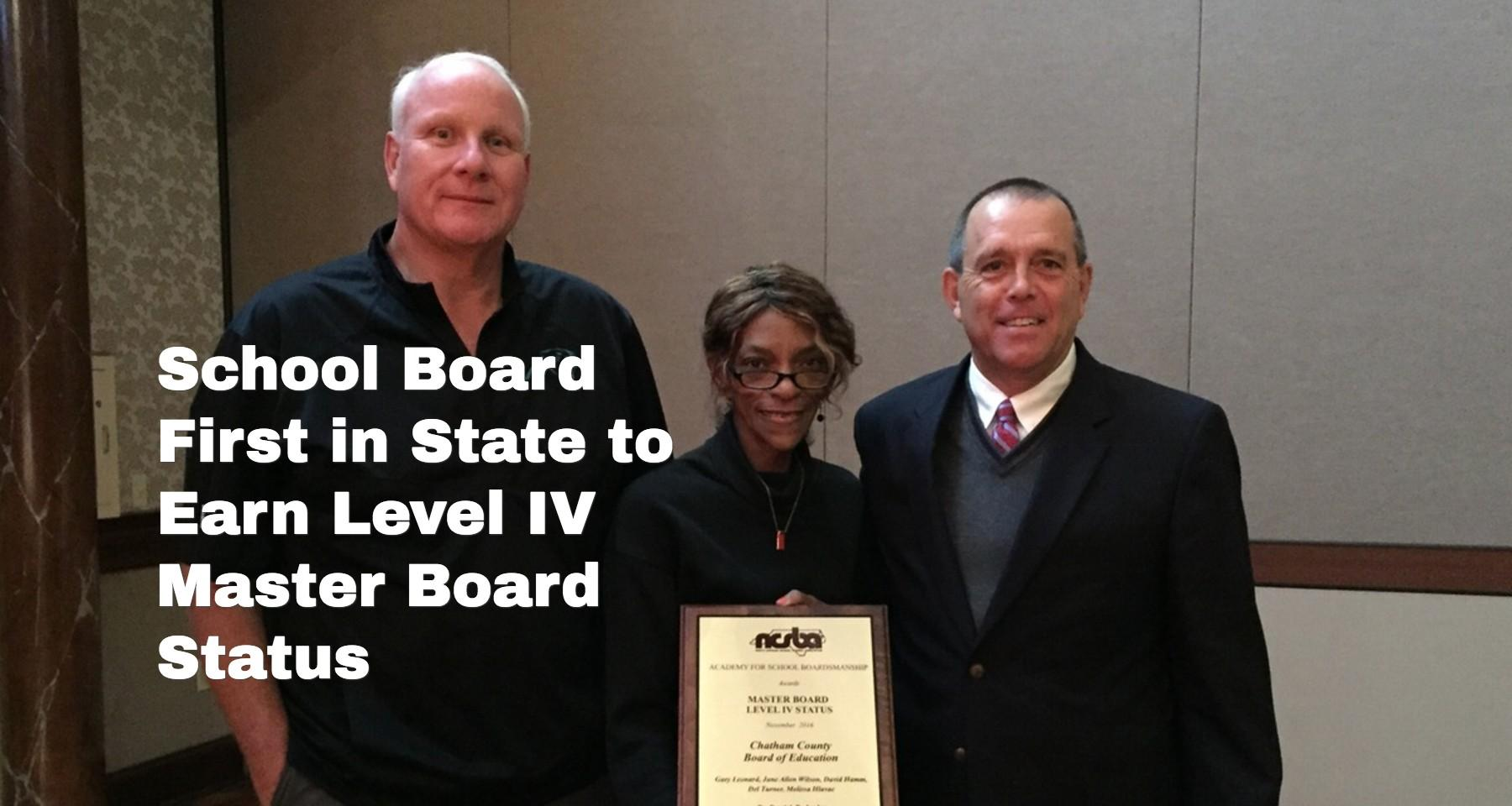 Board of Education Earns Master Board Status