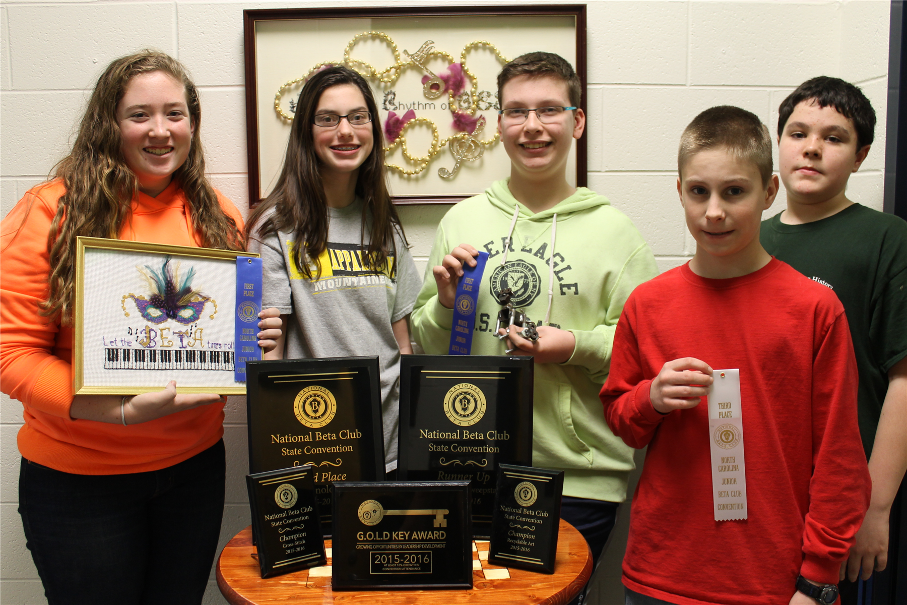 Bonlee Jr. Beta Club Winners photo