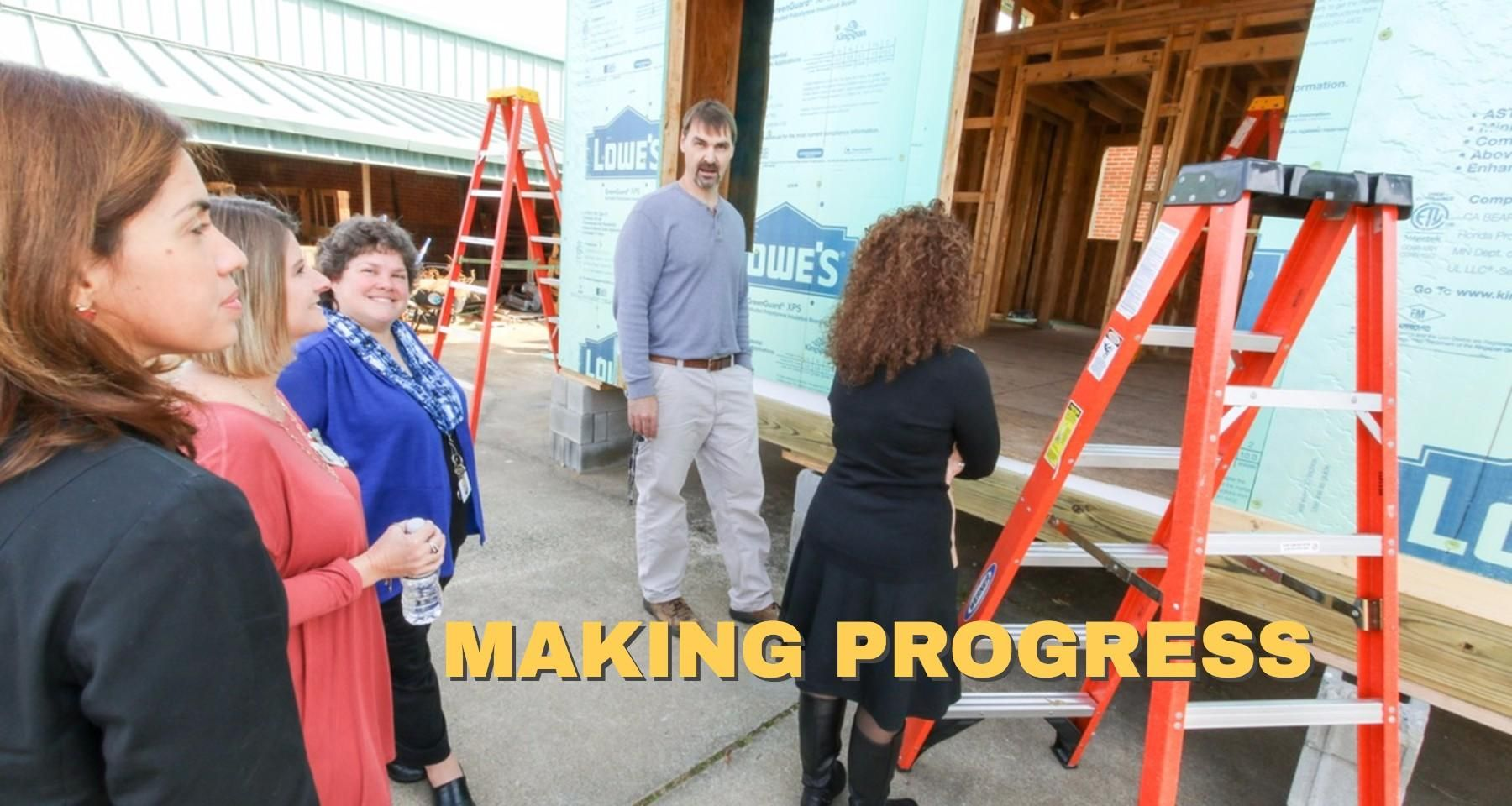 Habitat House taking shape at Jordan-Matthews