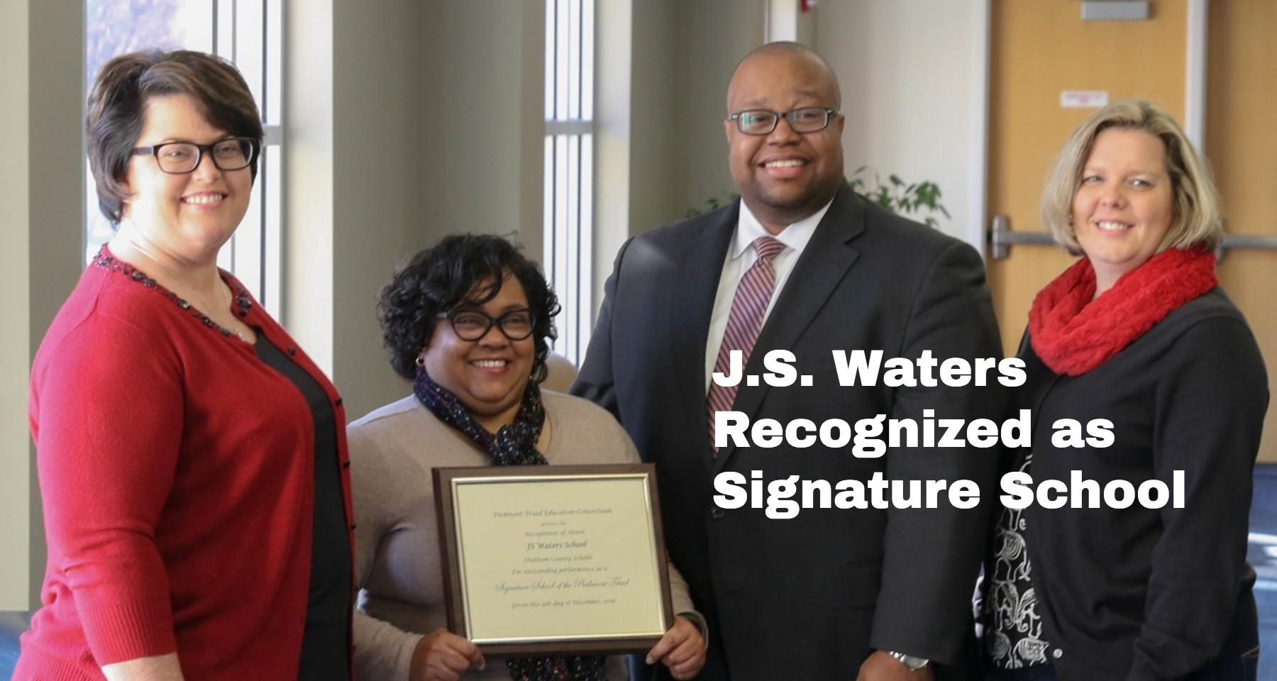 J.S. Waters Named Signature School