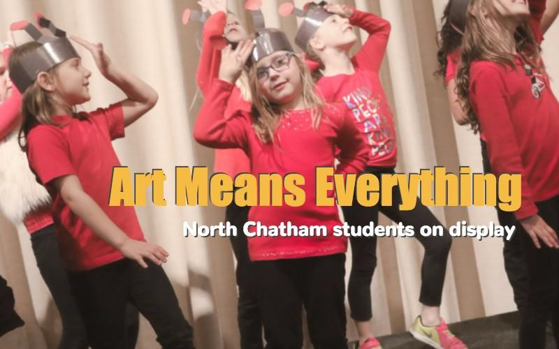 North Chatham Elementary School students featured during arts exhibit in Fearrington Village.