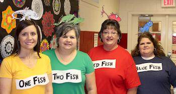 J.S. Waters Teachers - Read Across America Day graphic