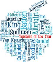 Chatham County Teachers of the Year Names graphic